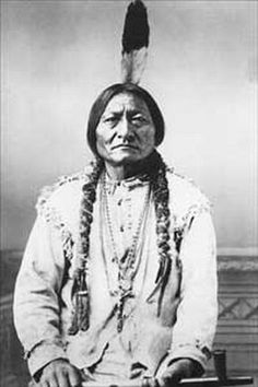Sitting Bull - c.1882 (notice what's hanging on a necklace around his stomach)