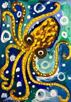Art Lessons For Kids, Art Lessons Elementary, Art For Kids, Kids Art Galleries, Animal Art Projects, 5th Grade Art, Baby Art, Ocean Art, Art Club