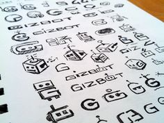 Robot logo sketches go! Logo Design, Graphic Design Layouts, Graphic Design Inspiration, Icon Design, Branding Design, Packaging Design, Sketch Inspiration, Graphic Art, Typo Logo