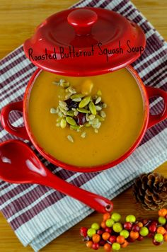 May I Have That Recipe | Roasted Butternut Squash Soup | http://mayihavethatrecipe.com