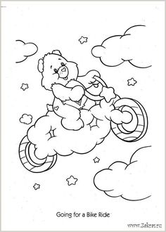 Bear Coloring Pages, Disney Coloring Pages, Printable Coloring Pages, Coloring Sheets, Coloring Pages For Kids, Adult Coloring, Coloring Books, Candy Drawing, Care Bear Party
