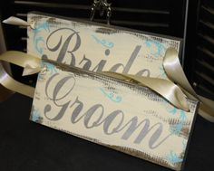 BRIDE  GROOM Chair Signs/Photo Prop/Xtra by gingerbreadromantic, $27.95