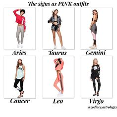 My sister is a cancer but she said she would most likely have on the leo sweat suit and I am a leo and I would most likely have on the Aries sweat suit because I like red and grey not pink and my sister loves the color blue but she loves wearing pink