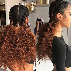 19 Amazing And Artistic Braided Hairstyles for Black Girl fo Braids are always easy, pleasant and of course one of the best choices for the classy women. Braids hairstyles for black girls is sexy as hell. You can try braid hairstyle anywhere you go. Box Braids Hairstyles, French Braid Hairstyles, Trendy Hairstyles, Girl Hairstyles, Hairstyle Ideas, Black Hairstyles, Hairstyles 2016, Fashion Hairstyles, Medium Hairstyles