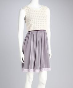 Take a look at this Knitted Dove Beige Don't Break My Heart Dress by Knitted Dove on #zulily today!