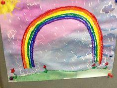 Primary Art: Kindergarten Rainbows