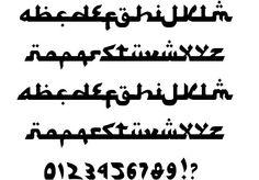 Syawal Khidmat font by Adien Gunarta Tattoo Lettering Fonts, Calligraphy Fonts, Hand Lettering, Typography, Arabic Style Font, Arabic Font, Character Map, Peace Of Mind, Graffiti