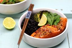 Nutrition, Honey, Salmon And Broccoli, Black Rice, Baked Salmon, Pisces