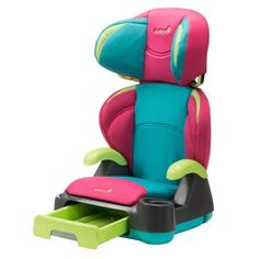 Safety 1st Store 'N Go Booster Car Seat, Belt-Positioning, Fruit Punch, Pink