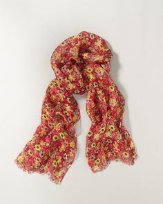 <3 this shower of flowers scarf  www.coldwatercreek.com