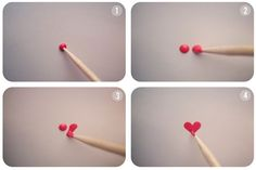 Nail hearts for Valentines Day #DIY
