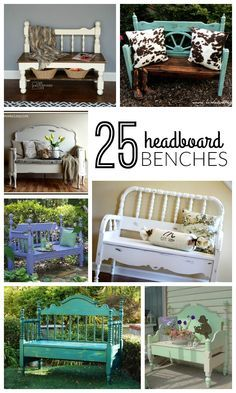 old headboard and turn it into a new place to sit! 25 DIY Headboard Benches + How To Build a Headboard Bench. Build A Headboard, Old Headboard, Headboard Benches, Bed Frame Bench, Diy Headboards, Benches From Headboards, Bedroom Benches, Headboard Ideas, Bedroom Chair