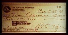 Hunter S. Thompson  cocaine ...