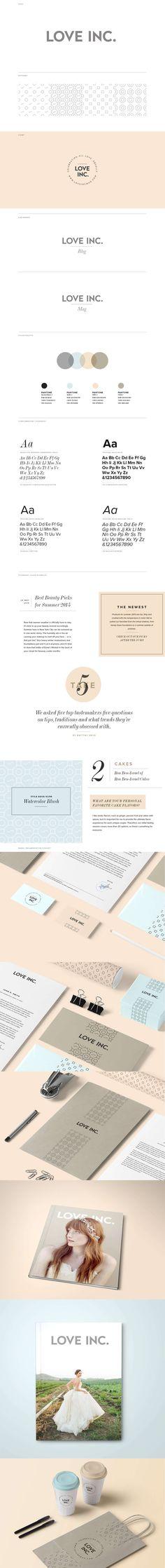 Brand Identity and Site Design for Love Inc. Magazine Branding and Blog Directory. #floagency #branding #interactivedesign #digital #print #brandidentity