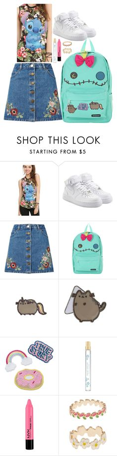 """""""lilo and stitch"""" by purplicious ❤ liked on Polyvore featuring Disney, NIKE, Miss Selfridge, Marc Jacobs and Accessorize"""