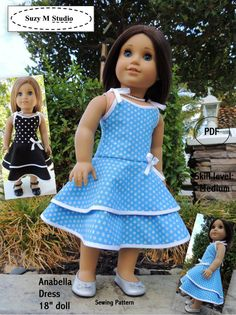 Anabella Dress Pdf Sewing Pattern  AGD size by suzymstudio on Etsy, $5.00