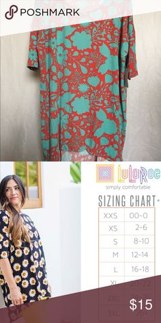 0b267566 🎉BOGO🎉 NEW LuLaRoe XL Irma NEW LuLaRoe XL Irma Brand new with tags  picture is the LuLaRoe Irma Size Chart If you have any questions please let  me know ...