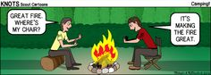Camping - Great Fire - KNOTS Scout Cartoon for February 2016