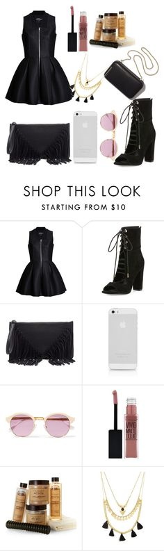"""""""UNTITLED"""" by nadyanataliaa on Polyvore featuring Kendall + Kylie, Sole Society, Sheriff&Cherry, Clare V., Maybelline and Forever 21"""
