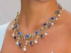 The Swedish Processional Necklace.  Sapphires, pearls and diamonds.