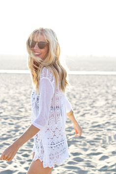 Crochet coverup.