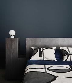 Explor the 2017 Dulux Colour Trends today. Dulux is prescribing distilled colour palettes as an antidote to many of the challenges we face in our modern lifestyles. Dulux Bedroom Colours, Bedroom Color Schemes, Bedroom Paint Colors, Colour Schemes, Dark Bedroom Walls, Feature Wall Bedroom, Blue Bedroom, Dark Walls, Blue Paint Colors