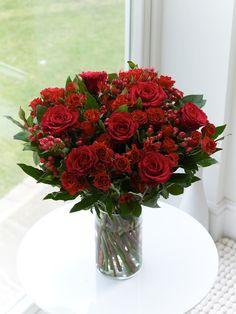 Scarlet Rose Hand-tied - Interflora