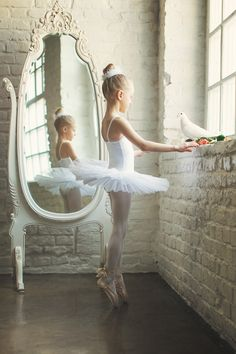 That girl is too young to be on pointe. I get my pointe shoes at ten. She's like fresh out of the womb
