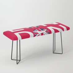 """Park it in style on this incredibly versatile bench, upholstered with vegan leather featuring all the designs you love. The perfect indoor bench, it will give any space an instant upgrade. Dress it with plush blankets or throw pillows to keep it elegant, but super cush.    -44"""" x 16"""" x 18"""" (H)   -Steel legs available in gold or black   -Wipe clean with damp cloth   -Assembly required Plush Blankets, Throw Pillows, Weimaraner, Vegan Leather, Cleaning Wipes, Bench, Indoor, Steel, London"""