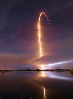What the sky looks like after a space launch