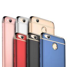 MOFI Luxury 3 In 1 Plating Frame Splicing PC Hard Case For Xiaomi Redmi 4X/Redmi 4X Global Edition