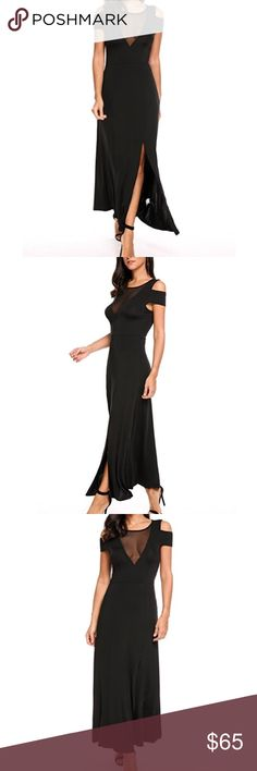 🆕 Sexy Black Cold Shoulder Maxi Dress Brand new, never worn. 95% polyester and 5% spandex. Dresses Maxi