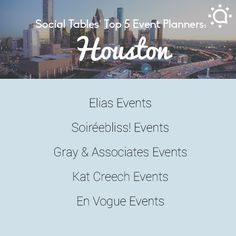 We're celebrating such an honored designation!! Top 5 Houston Event Planners