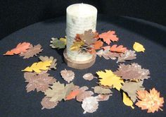 Swirling Leaves Centerpiece using Autumn Accents Bigz Die from Stampin' Up!