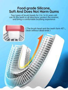 Smart 360 Degress U Sonic Kids Electric Silicone Automatic Ultrasonic – dailyfashionlove Ultrasonic Toothbrush, Kids Electric Toothbrush, Acoustic Wave, Magnetic Levitation, Brush Type, 14 Year Old, Deep Cleaning, Cartoon Styles