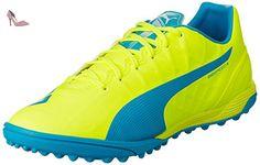 Evotouch 3 TT, Chaussures de Football Compétition Homme, Blanc White-True Blue-Blue Danube 02, 36 EUPuma