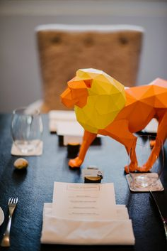 Enoch and Carol's Safari-Themed Wedding with Geometric Paper Animals