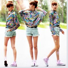 This is inspired eighties fashion