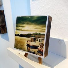 Livartys Gallery: Photos on wood and Epoxy Resin Layers:  Stadtmotiv aus Hamburg. Mit weißem Rand, 10x10cm auf Massivholz, leicht geflämmt.