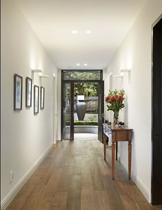 elegant entrance hall with american oak floors