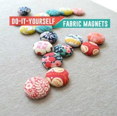 Cool Crafts You Can Make With Fabric Scraps - DIY Fabric Scrap Magnet - Creative DIY Sewing Projects and Things to Do With Leftover Fabric and Even Old Clothes That Are Too Small - Ideas, Tutorials (Cool Crafts To Sell) Scrap Fabric Projects, Small Sewing Projects, Fabric Scraps, Sewing Crafts, Craft Projects, Sewing Tips, Sewing Tutorials, Craft Ideas, Sewing Hacks