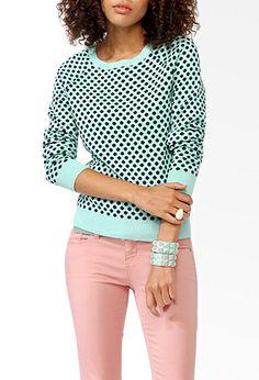 Polka Dot Raglan Sweater | FOREVER21 - 2030186351