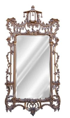 Hickory Manor House Campanello Mirror, Antique Gold Hickory Manor House