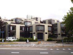 Het gebouw van Centraal Beheer in Apeldoorn 1972. Helaas nu leegstaand