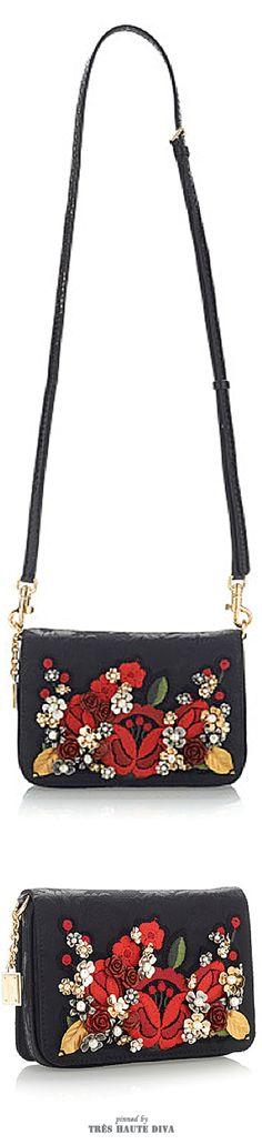 Dolce & Gabbana Carnation Embroidered Jacquard Mini Bag ♔ SS 2015