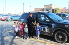 Our Educare kids visited with Officer Johnson during Go Blue Week and what fun they had!