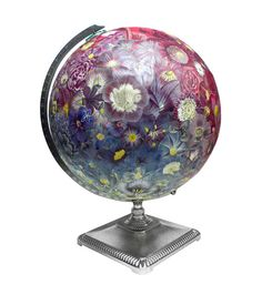 Everlasting Bouquet Globe Vintage Globe Art by wendygold on Etsy