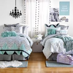 Teen Girl Bedrooms, girl room suggestion note 2320720640 - A devine resource on room decor tips. teen girl bedrooms themes dream rooms topic suggestion shared on this day 20181210 Bedroom Themes, Bedroom Sets, Bedroom Decor, Bedding Sets, College Room Decor, Teen Girl Bedrooms, Dream Rooms, Girl Room, Decoration