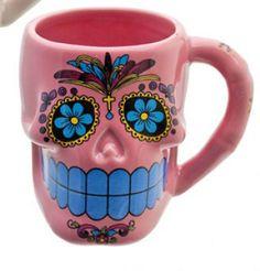 Mexican Sugar Skull Mug Day of The Dead DÍA de Los Muertos Cute Candy Kitsch Cup | eBay