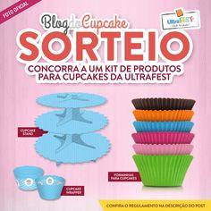 Sorteio: 3 kits de material para cupcakes da Ultrafest
